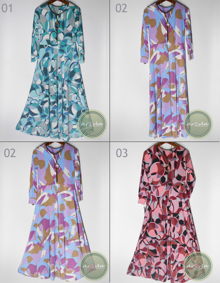Gamis Umbrella Jersey Super premium Abstrak