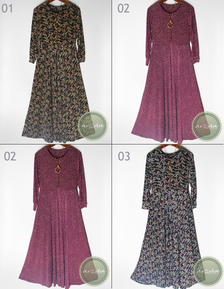 Gamis Umbrella Jersey Super premium small motif
